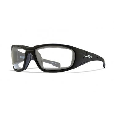 Wiley X BOSS Clear Lens / Matte Black Frame