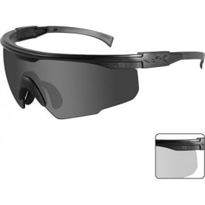 Wiley X PT-1 - Smoke Grey + Clear Lens / Matte Black Frame