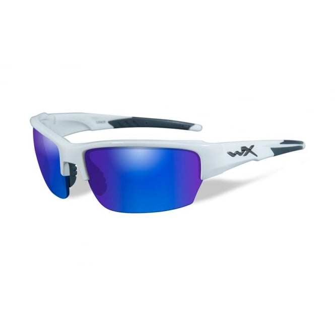 Wiley X Saint Polarized Blue Mirror / Gloss White Frame
