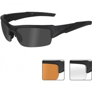 Wiley X WX VALOR - Smoke Grey + Clear + Light Rust Lenses / Matte Black Frame