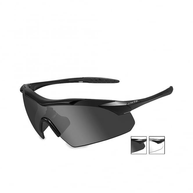 Wiley X WX VAPOR - Smoke Grey + Clear Lens / Matte Black Frame