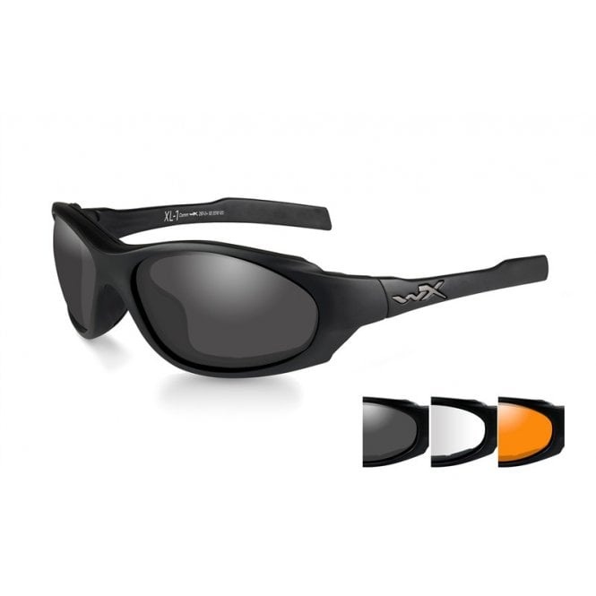 Wiley X XL-1 Advanced Comm Smoke/Clear/Light Rust Lenses